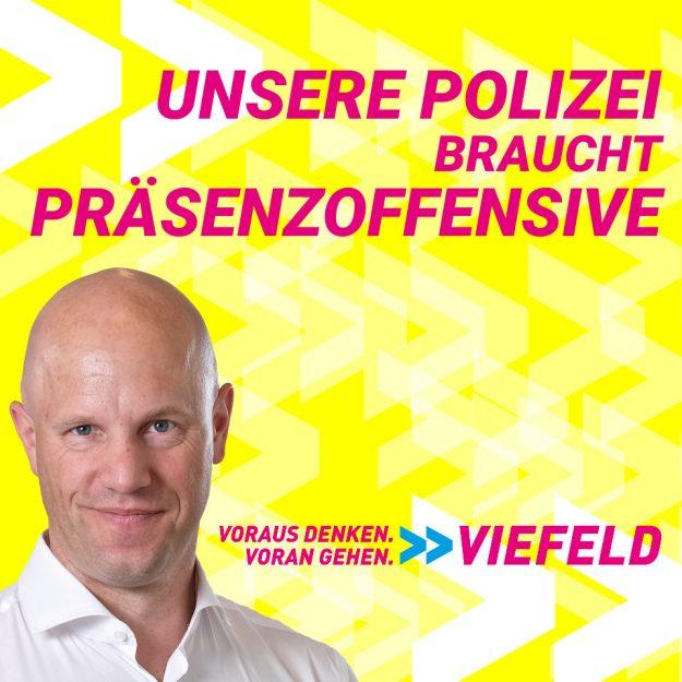 Viefeld (FDP): Unsere Polizei braucht Präsenzoffensive