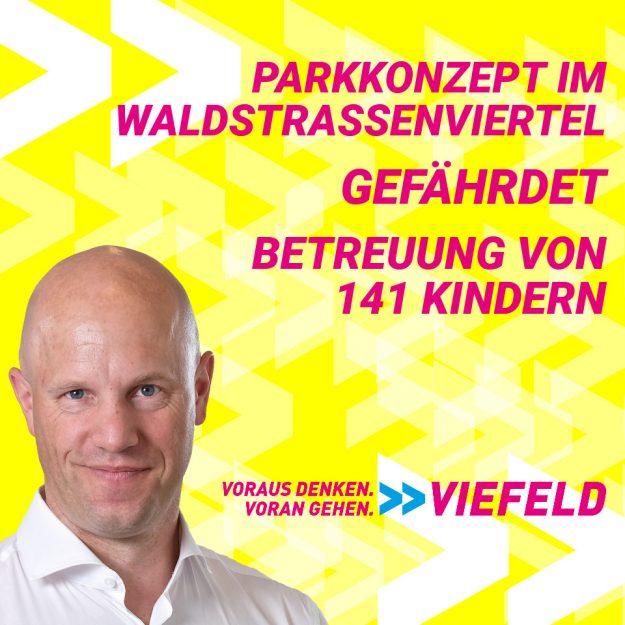 Parkkonzept im Waldstraßenviertel gefährdet Betreuung von 141 Kindern