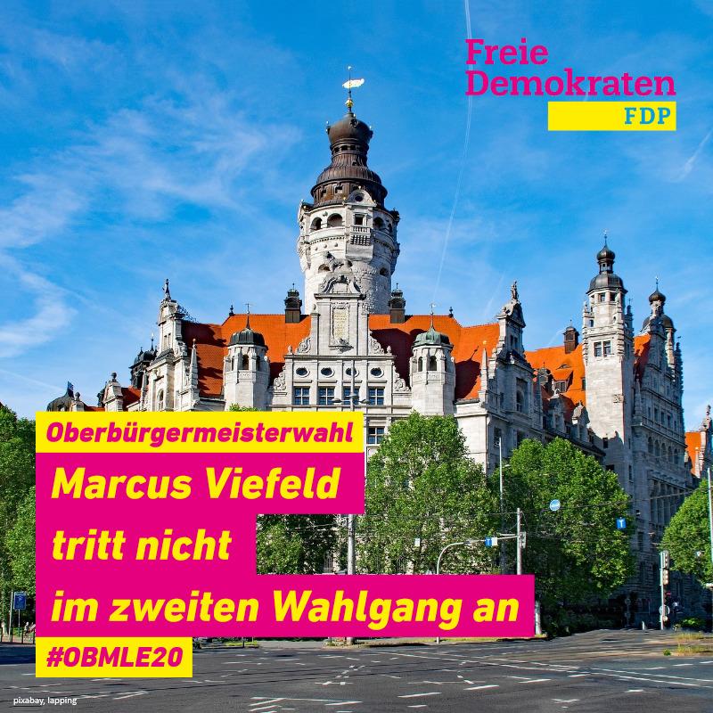 Oberbürgermeisterwahl: Viefeld tritt nicht im zweiten Wahlgang an