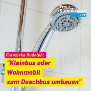 """Rudolph (FDP): """"Kleinbus ode rWOhnmobil zum Duschbus umbauen"""""""