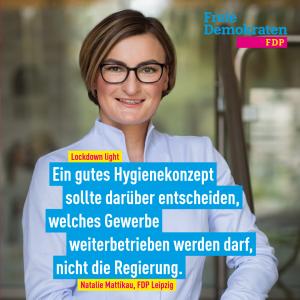 Natalie Mattikau (FDP): Lockdown light zerstört Existenzen