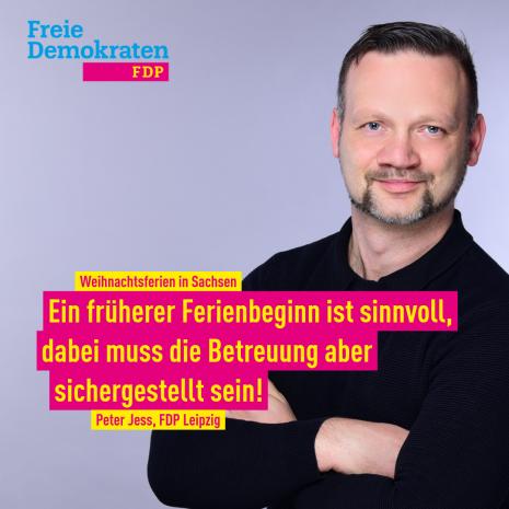 Jess (FDP): Früherer Ferienbeginn sinnvoll / Betreuung sicherstellen