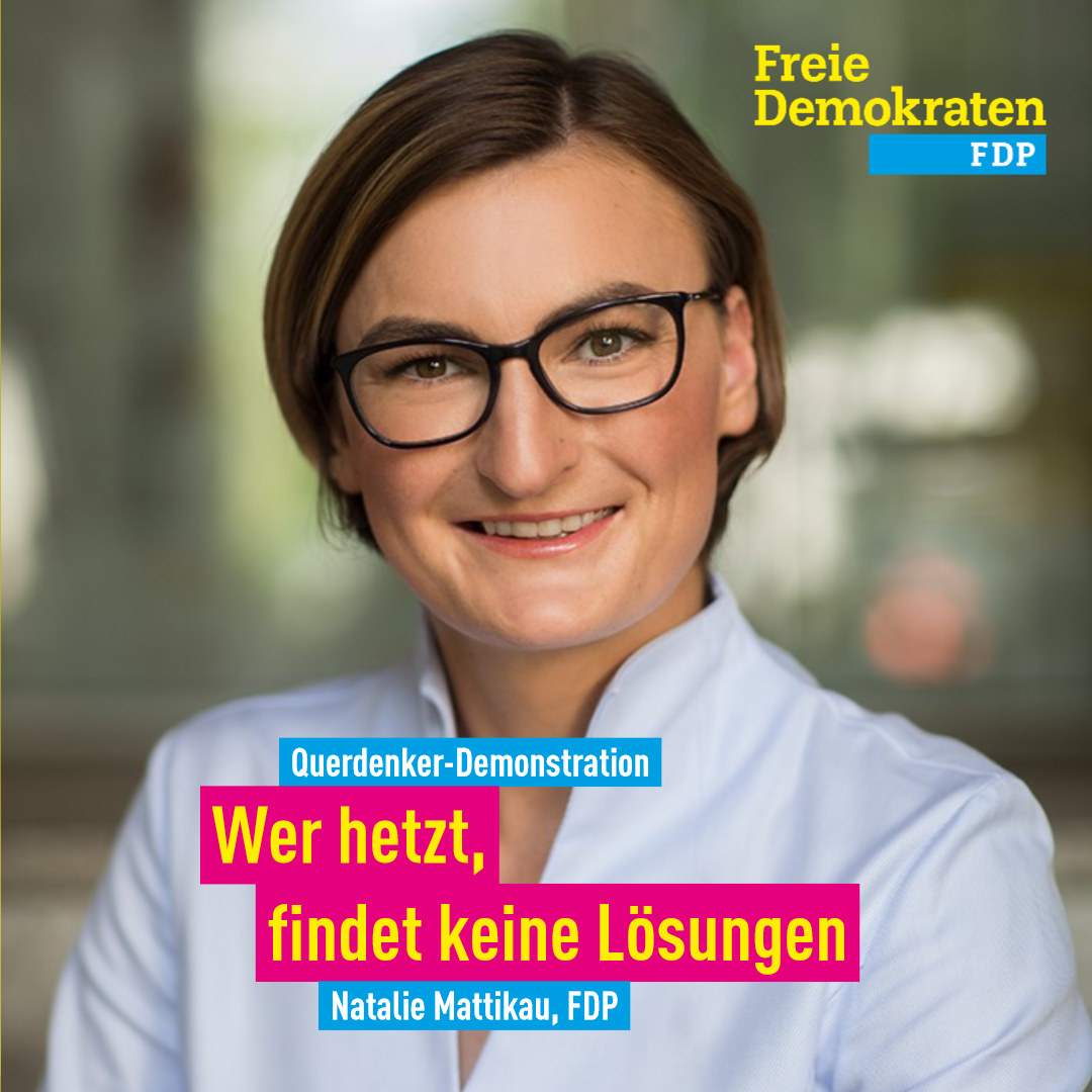 Mattikau (FDP): Wer hetzt, findet keine Lösungen