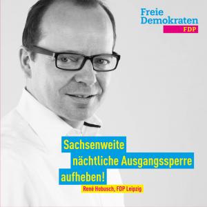 Hobusch (FDP): Sachsenweite nächtliche Ausgangssperre aufheben