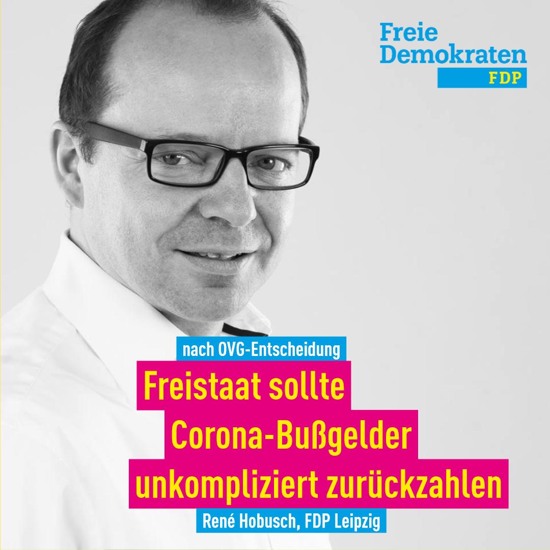Hobusch (FDP) nach OVG-Entscheidung: Corona-Bußgelder unkompliziert zurückzahlen