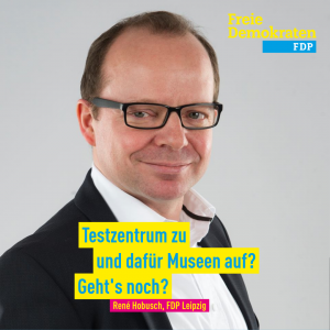 Hobusch (FDP): Testzentrum zu und dafür Museen auf? Geht's noch?