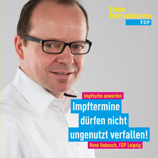 Hobusch (FDP): Impfturbo anwerfen, keine Impftermine ungenutzt lassen, Terminvergabe am Tag vorm Termin öffnen