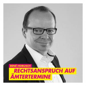 Hobusch (FDP): Rechtsanspruch auf Ämtertermine